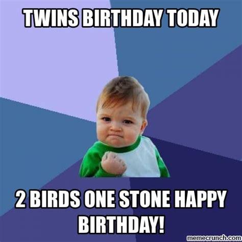 Happy birthday twins Memes