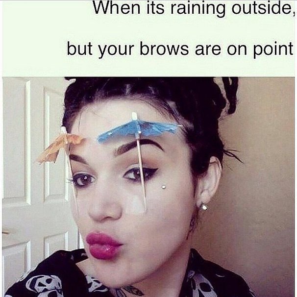 Image result for rained make up