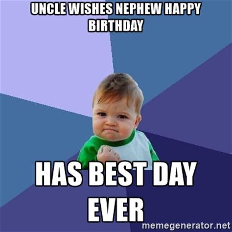 Happy Birthday Nephew Funny Meme