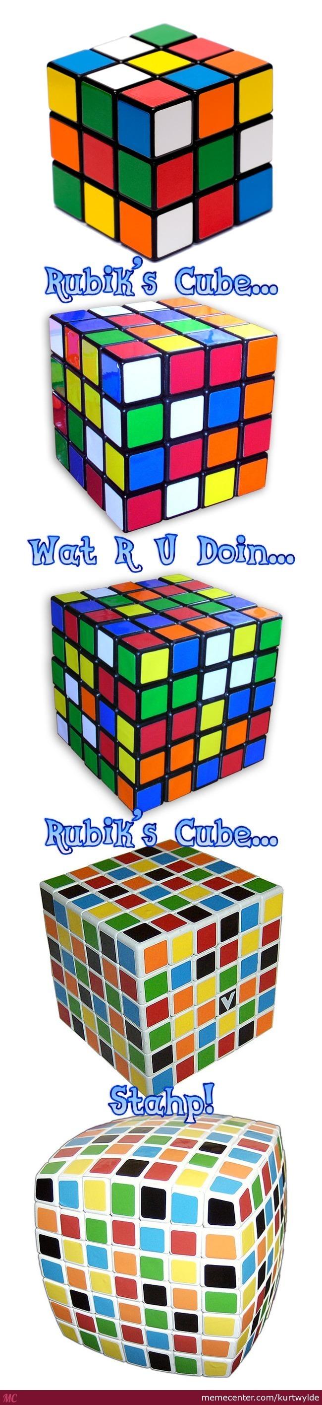 Weirder and weirder Rubik's cubes.