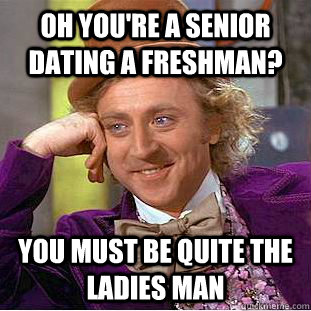 freshman and senior dating college