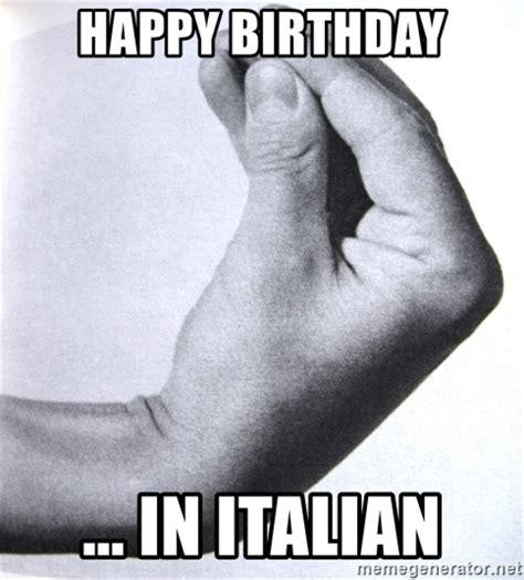 Italian Birthday Memes