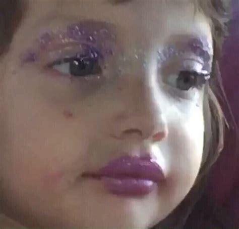 Little girl makeup Memes