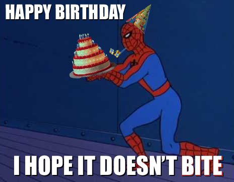 Spiderman Birthday Memes