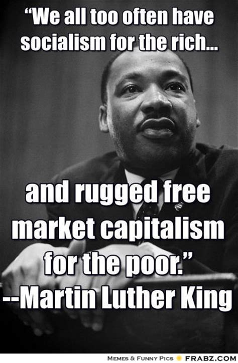 mlk socialism for the rich