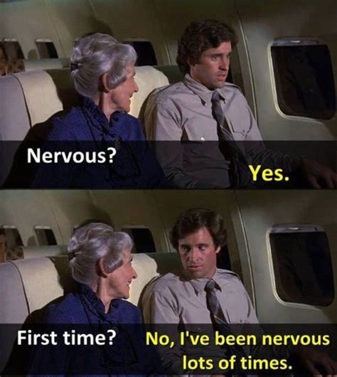 Image result for airplane! nervous