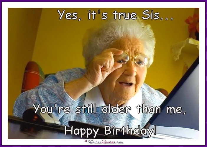 Enjoyable Funny Sister Birthday Memes Personalised Birthday Cards Paralily Jamesorg