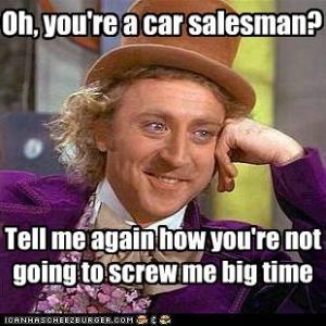 Image Of Meme Car Sales Takes 100 Fresh Customers Sells 5 Cars