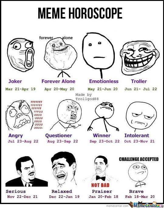 Astrology sign Memes