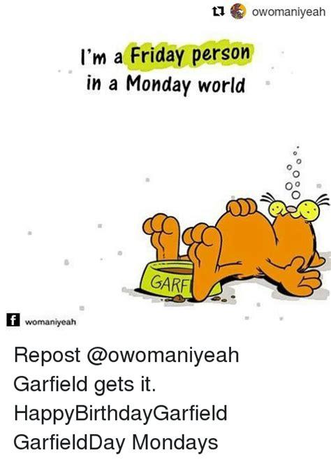 Garfield Monday Memes