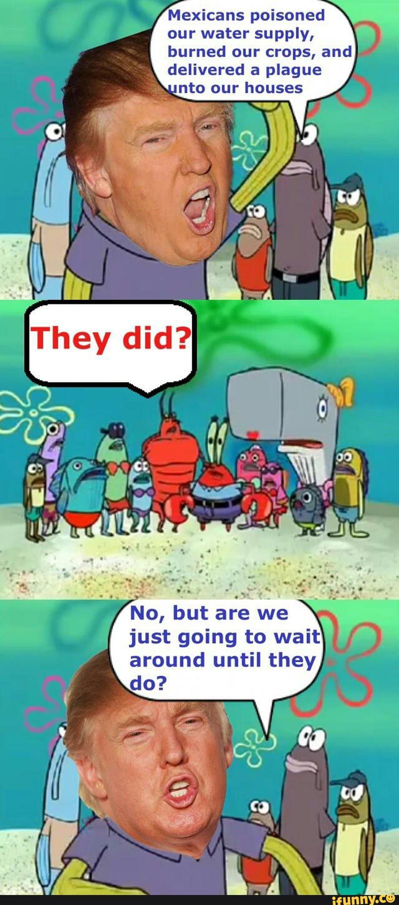 Spongebob donald trump to pin on pinterest
