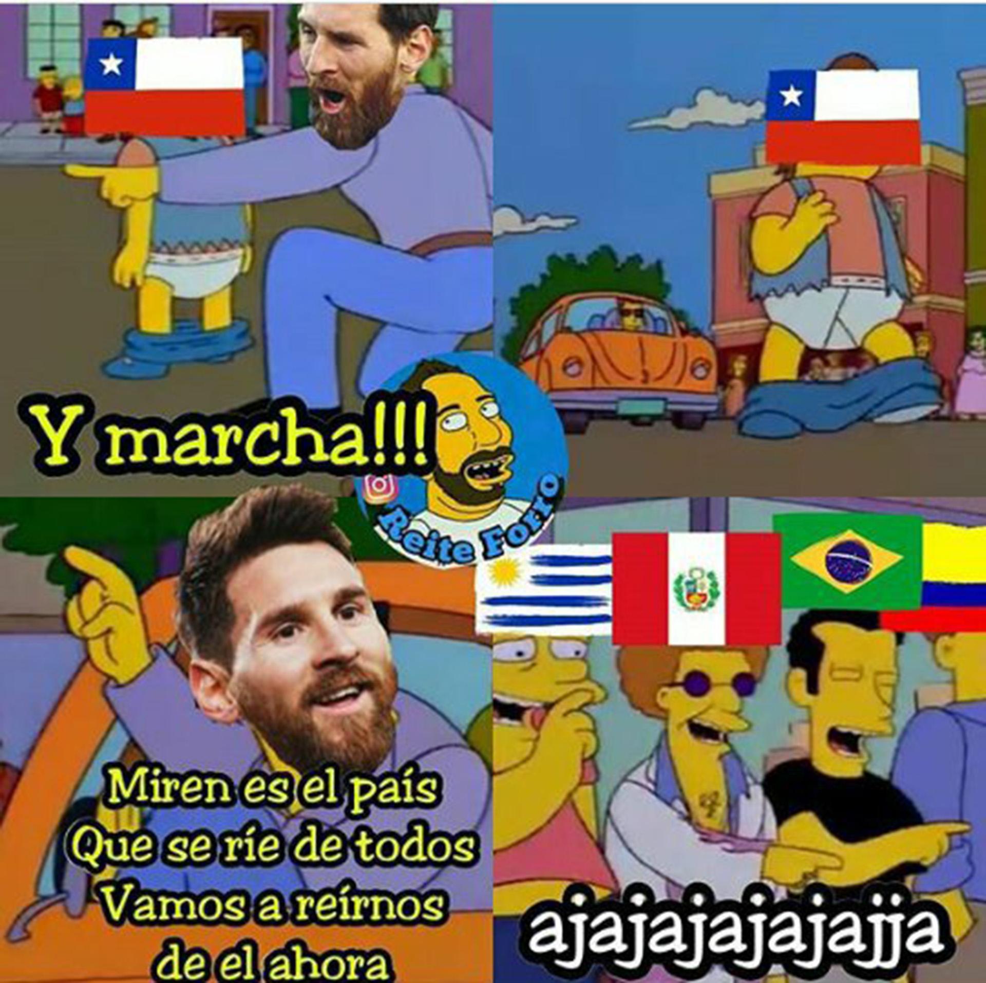 Los memes de la derrota de chile y su ausencia del próximo