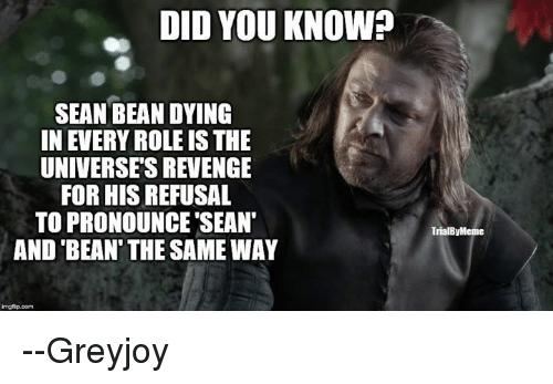 Sean Bean Memes