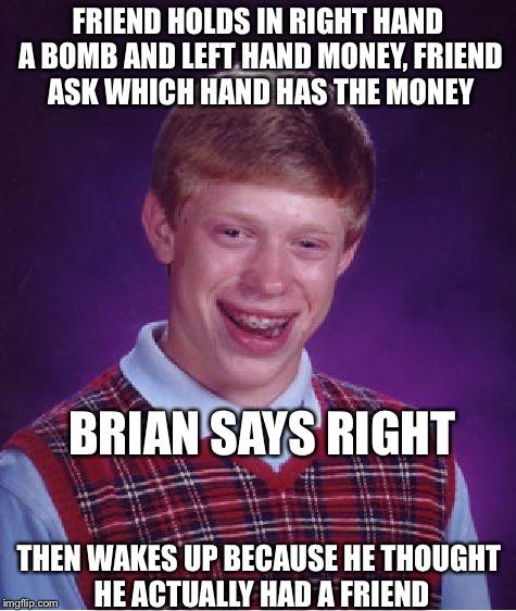7d108ea38f81 Bad Luck Brian Meme, Imgflip
