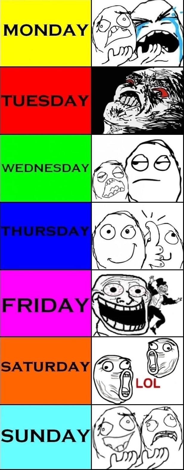 Days of the week Memes
