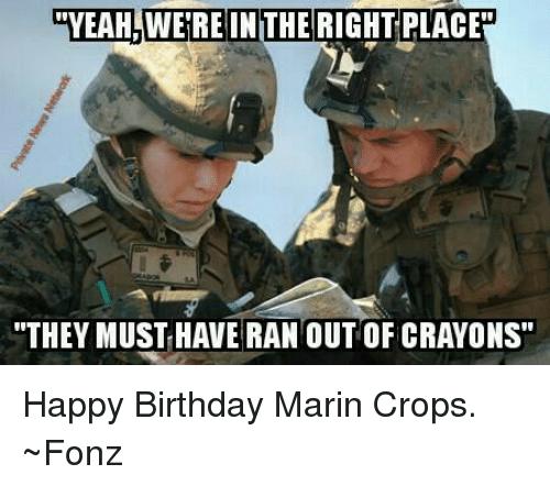 Marine Birthday Memes