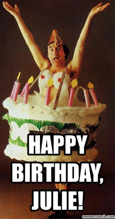 Happy Birthday Julie Tuna Dog Meme Generator