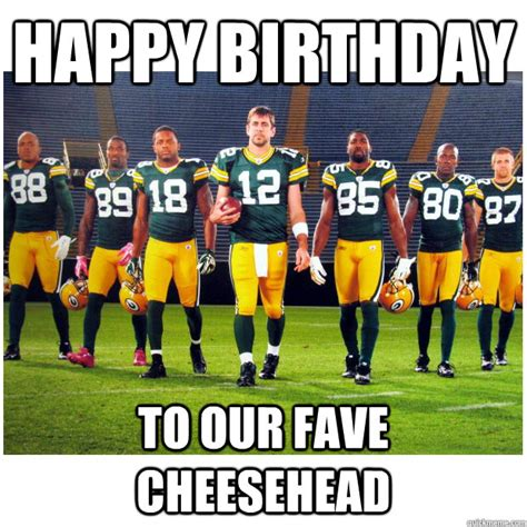 Green Bay Packers Birthday Memes