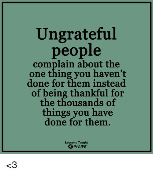 Ungrateful Memes
