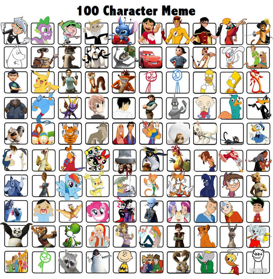 100 Pictures Cartoon Characters character memes